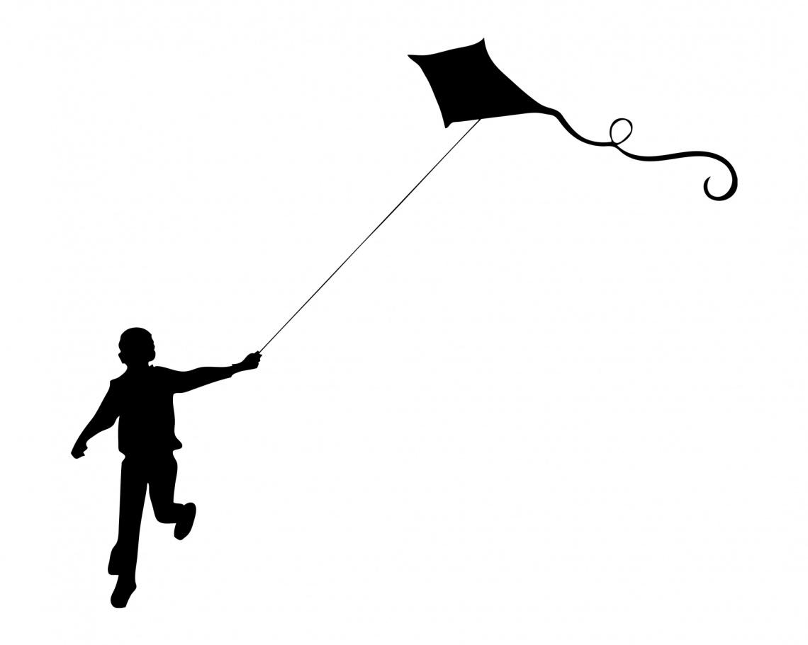 boy-flying-kite-silhouette
